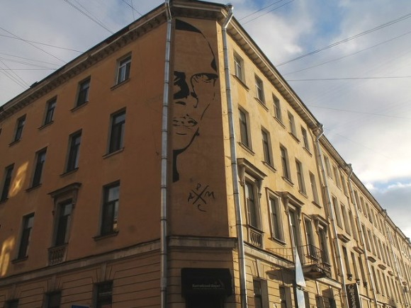 Уличные художники почтили память Даниила Хармса