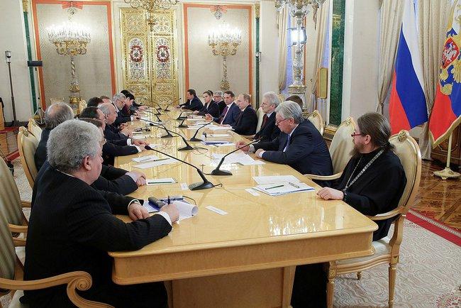 Встреча Путина с разработчиками концепции учебника истории