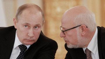 Владимир Путин и Михаил Федотов