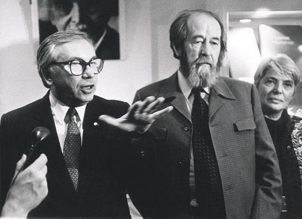 Владимир Лукин и Александр Солженицын