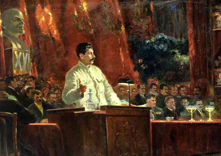 Герасимов А. М. Выступление И.В. Сталина на ХVI съезде партии. 1935. ГИМ